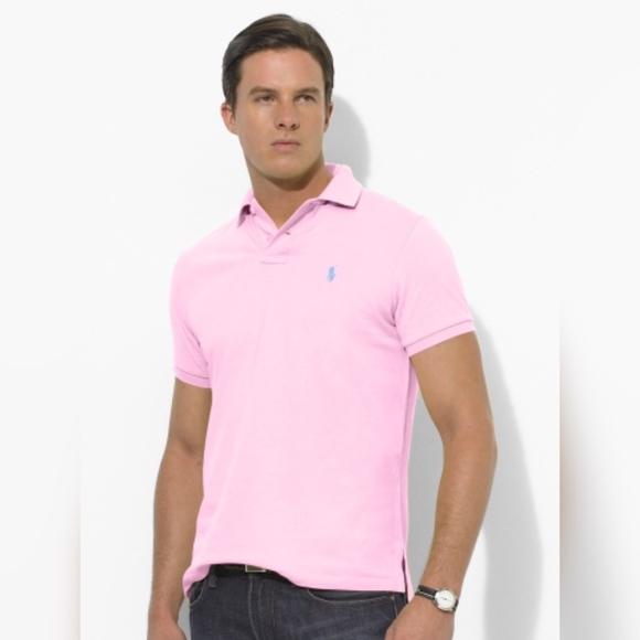 1606f1a74afb Men's Ralph Lauren Polo Shirt in Light Pink. M_5ac289052c705df60fffe932